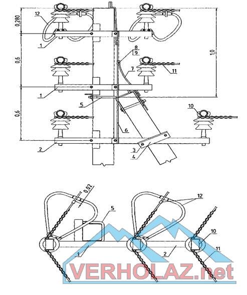 схема системы вентиляции с электрическим теплообменником и рекуператором